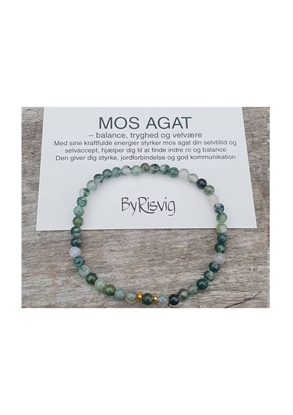 Mos agat armbånd fra By Risvig