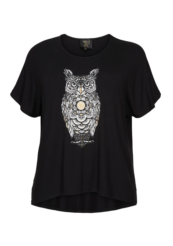 Ugle t-shirt fra No.1 by Ox