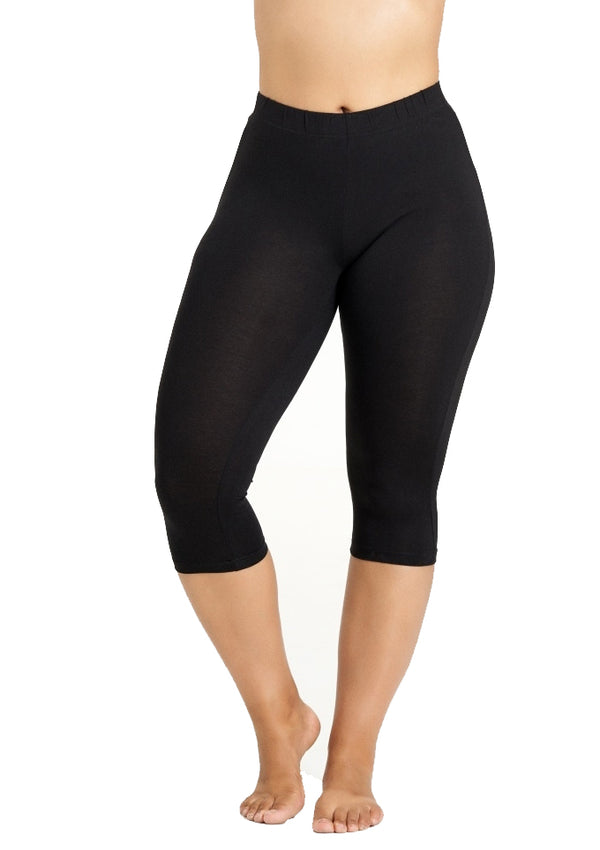 Jersey capri leggings