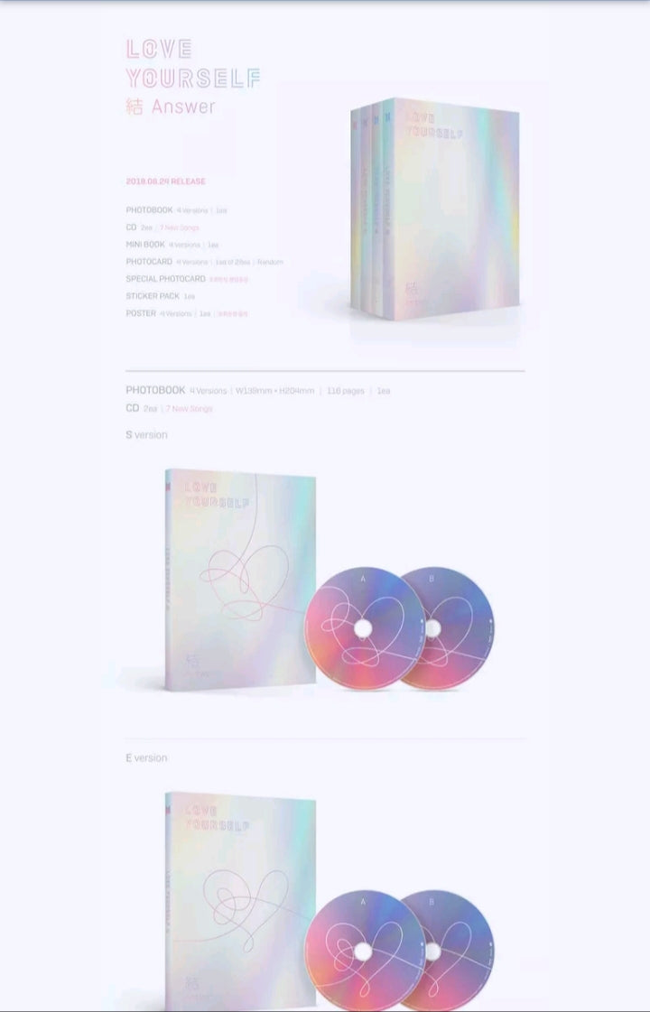 BTS [Love yourself Answer] 3.rd Album