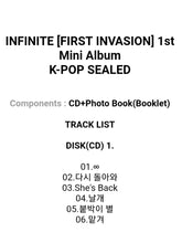 Laden Sie das Bild in den Galerie-Viewer, Infinite [First Invasion] Mini Album