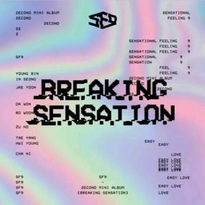 SF9 [Breaking Sensation] 2.nd Mini Album