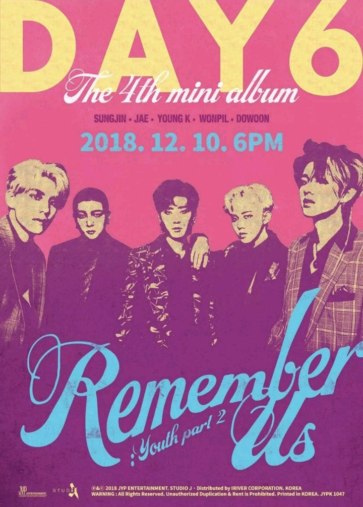 Day6 [Remember us:Youth pt.2] 4.th Mini Album