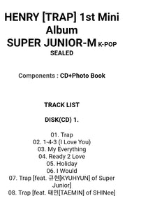 Super Junior-M Henry [Trap] 1.st Mini Album