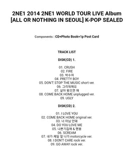 2NE1 2014 World Tour Live Album