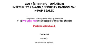 Got7 [Spinning Top] Album