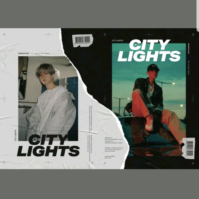 Exo Baekhyun [City Lights] 1.st Mini Album