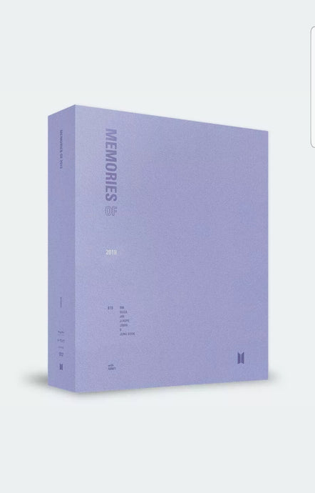 BTS Memories of 2018 DVD