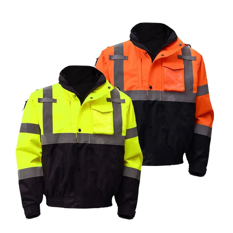 GSS Safety Class 3 Waterproof 3-in-1 Bomber Jacket with Removable Fleece