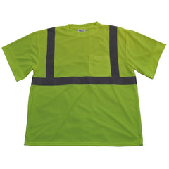 Petra Roc LTS2 ANSI Class 2 Lime High Visibility T-Shirt