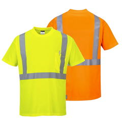 Portwest S190 Hi-Vis Pocket T-Shirt