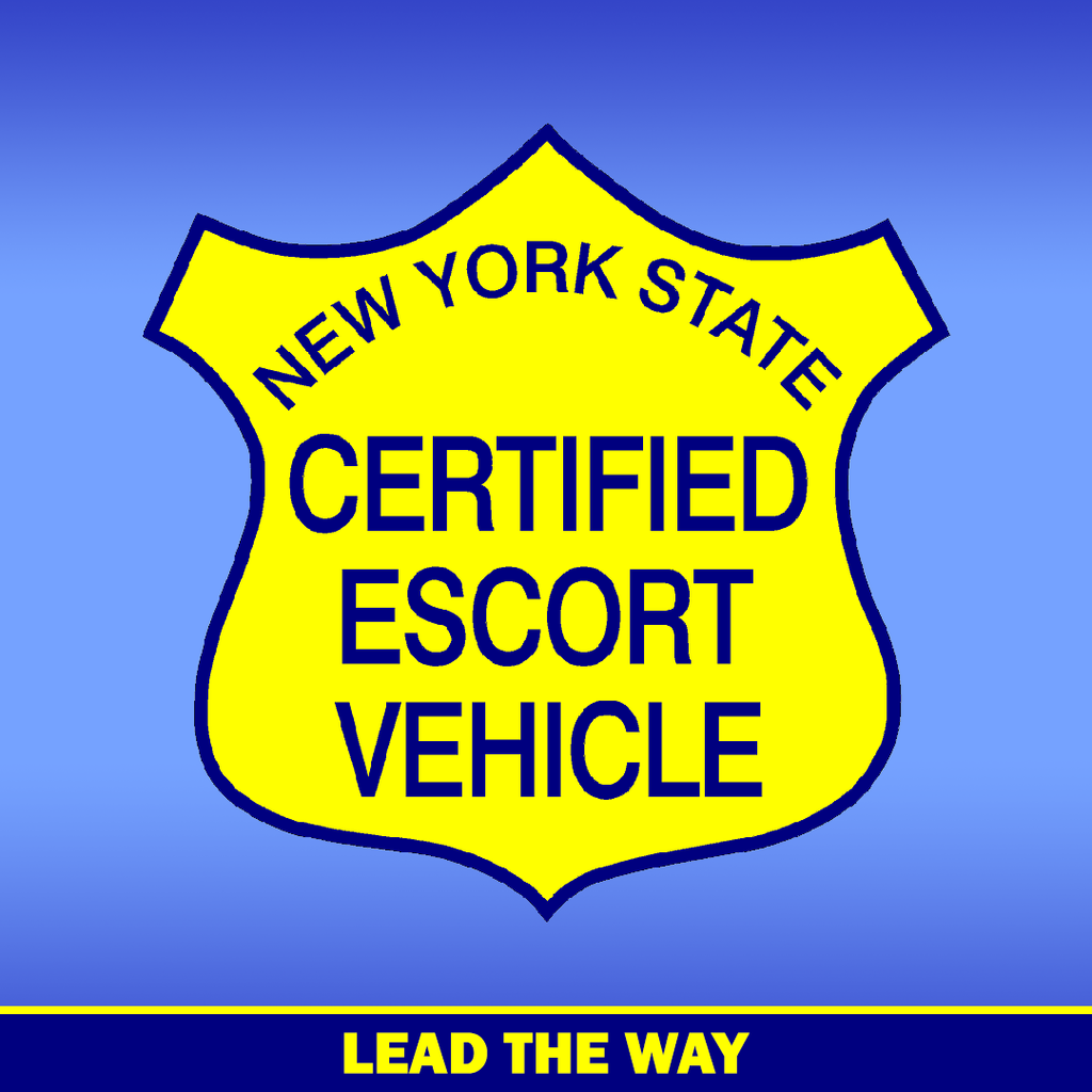 NYS Certified Escort Vehicle Decals