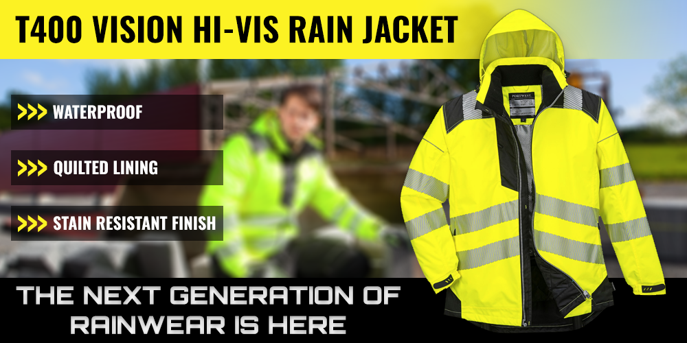 Portwest T400 High Visibility Rain Jacket