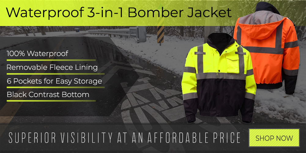 Waterproof 3 in 1 Hi Vis Bomber Jacket