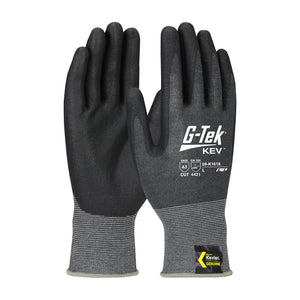 PIP 09-K1618 G-Tek KEV Seamless Knit Kevlar Glove with Nitrile Coated Foam Grip