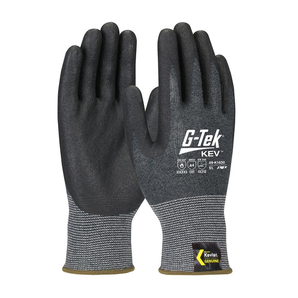 PIP 09-K1630 G-Tek KEV Seamless Knit Kevlar Glove with Nitrile Coated Foam Grip