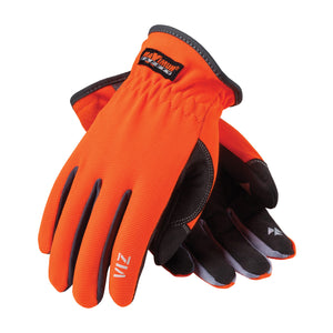 PIP 120-4600 Maximum Safety Viz Hi Vis Synthetic Leather Palm Glove