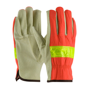 PIP 125-368 Grain Pigskin Leather Palm Hi Vis Drivers Glove