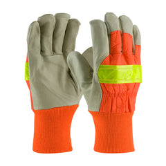 PIP 125-448 Grain Pigskin Leather Palm Hi Vis Glove, Thinsulate Lined
