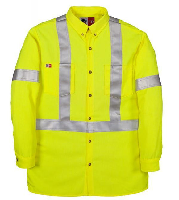 Big Bill Tencate Tecsafe® Plus Class 3 Hi Vis FR Dress Shirt