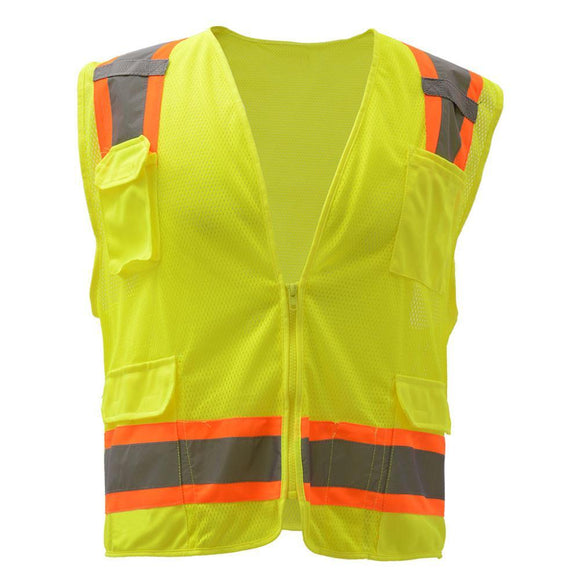 GSS Safety Premium Class 2 Fall Protection Two-Tone Mesh Safety Vest