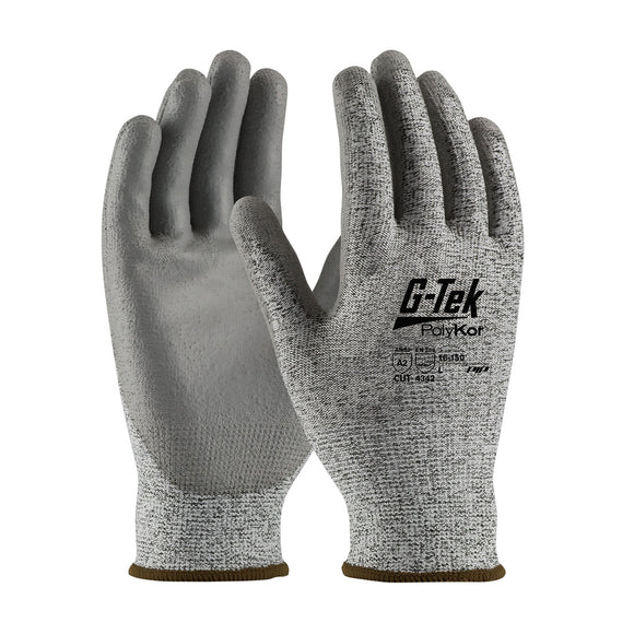 PIP 16-150 G-Tek PolyKor Seamless Knit Glove with Polyurethane Coated Smooth Grip