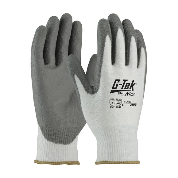 PIP 16-D622 G-Tek PolyKor Seamless Knit Glove with Polyurethane Coated Smooth Grip