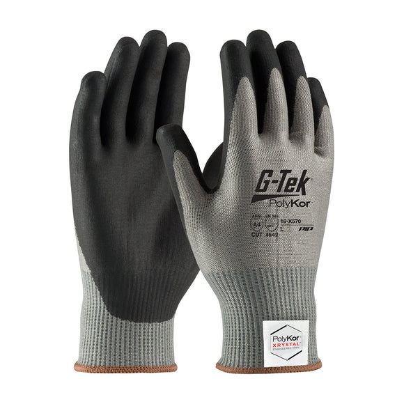 PIP 16-X570 G-Tek PolyKor Xrystal Seamless Knit Glove with NeoFoam Coated Palm