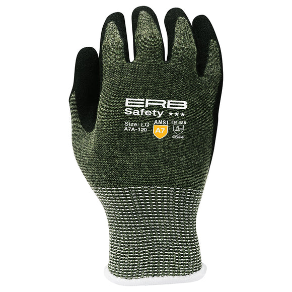 A7A-120 HPPE Cut Glove with Nitrile Sandy Coating