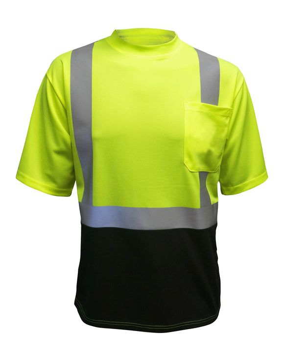 MAX Apparel MAX405 Class 2 Hi Vis Black Bottom T-Shirt