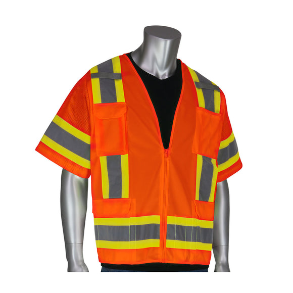 PIP 303-0500 ANSI Class 3 Two Tone Surveyor Eleven Pocket Vest