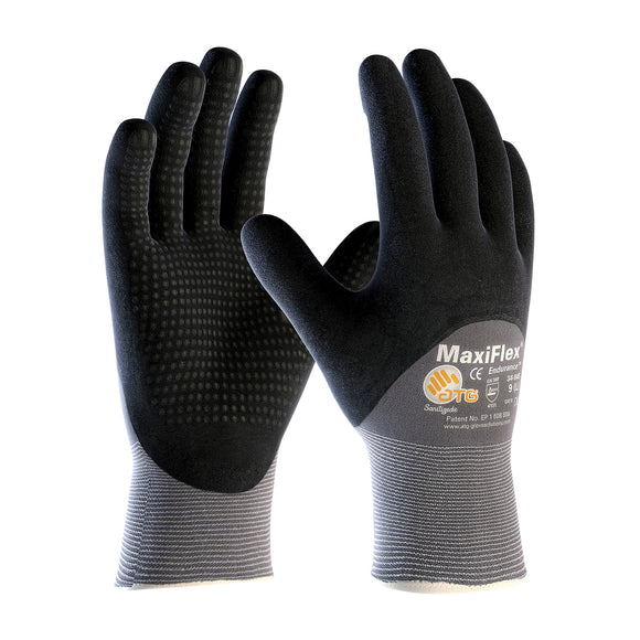 PIP 34-845 MaxiFlex Endurance Seamless Knit Nylon Glove with Nitrile Coated MicroFoam Grip