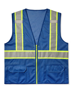 MAX Apparel MAX434 Enhanced Visibility Blue Safety Vest