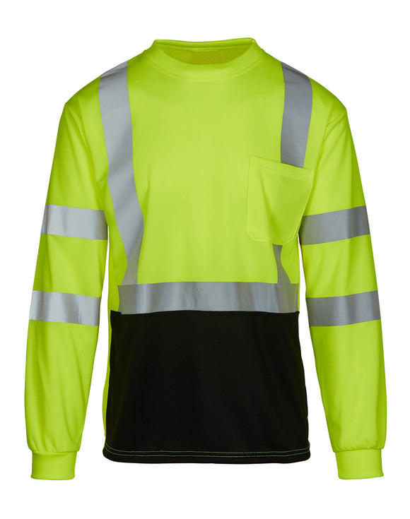 MAX Apparel MAX455 Class 3 Hi Vis Black Bottom T-Shirt