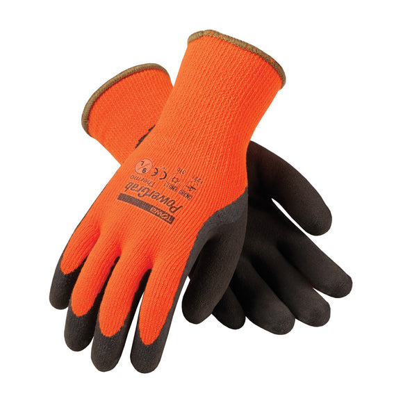 PIP 41-1400 PowerGrab Thermo Hi Vis Orange Acrylic Terry Winter Glove