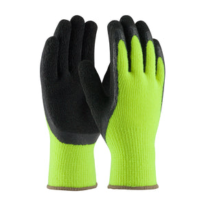 GLOVES LATEX HIVIZ GRN L