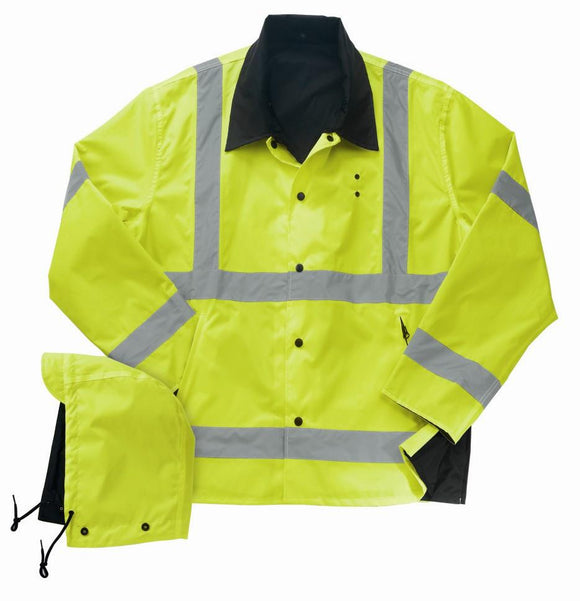 Liberty Uniform ANSI Class 3 Reversible Rain Jacket