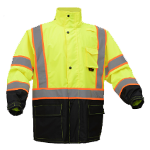 GSS Safety Premium Class 3 Two Tone Rain Coat with Black Bottom