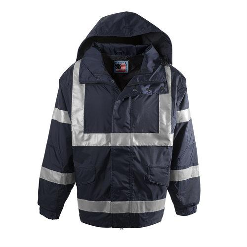 Snap N Wear 777T Navy Safety Outer Jacket