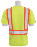 ERB 9601SBC Class 2 Hi Vis Short Sleeve T-Shirt with Contrasting Trim