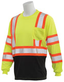 ERB 9804SBC Class 3 Hi Vis Long Sleeve T-Shirt with Contrasting Trim