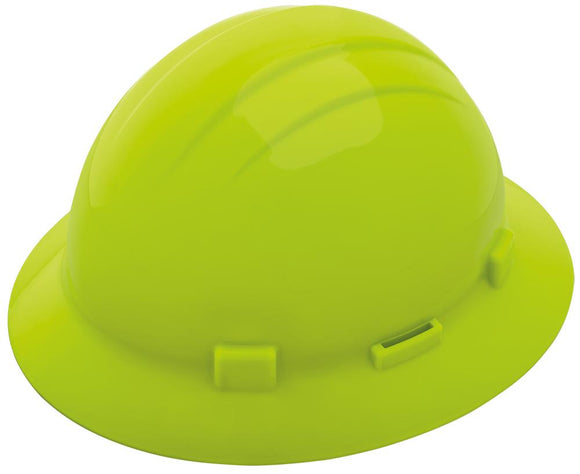 ERB Americana Full Brim Hard Hat with 4-Point Ratchet Suspension and Accessory Slots