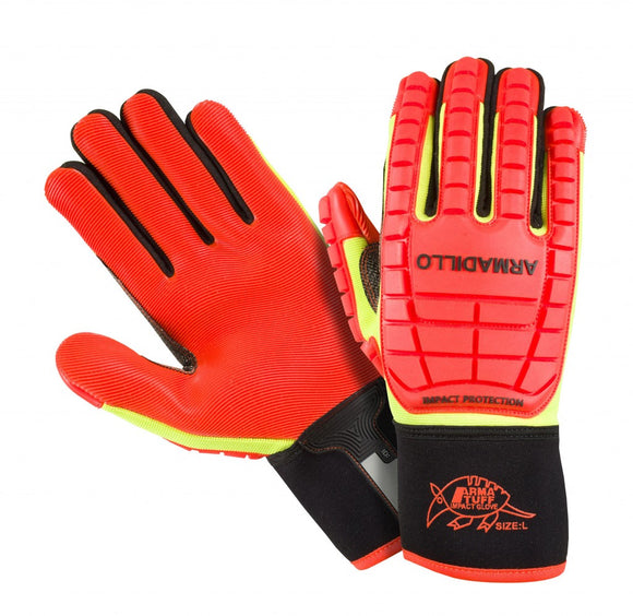Southern Glove ATPRMECOO Arma Tuff Armadillo Hi Vis Orange Impact Gloves