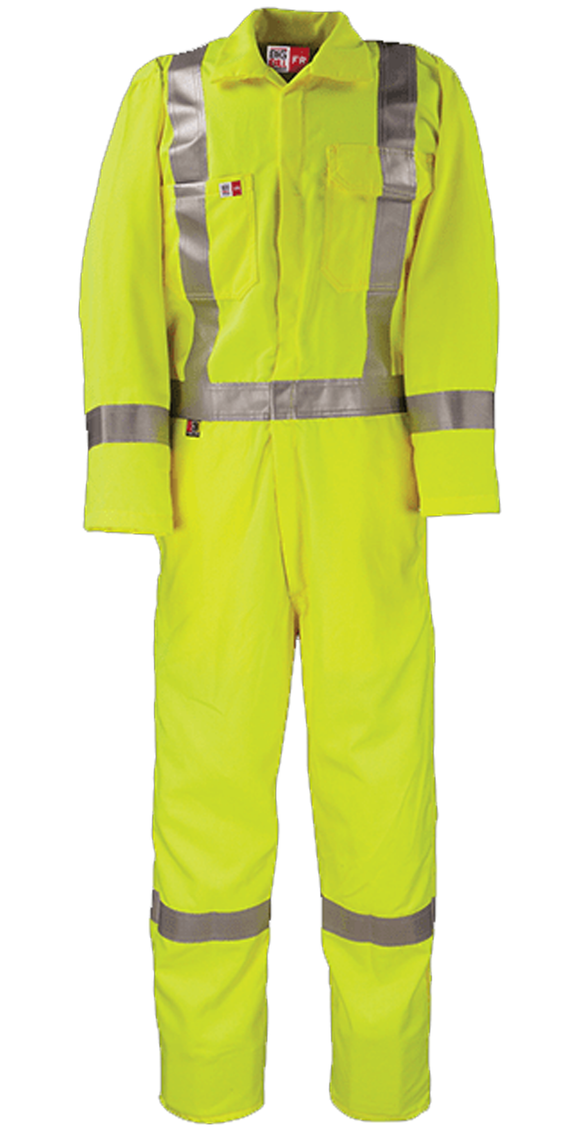 Big Bill 1328TY7 Unlined Hi Vis Class 3 FR Work Coverall