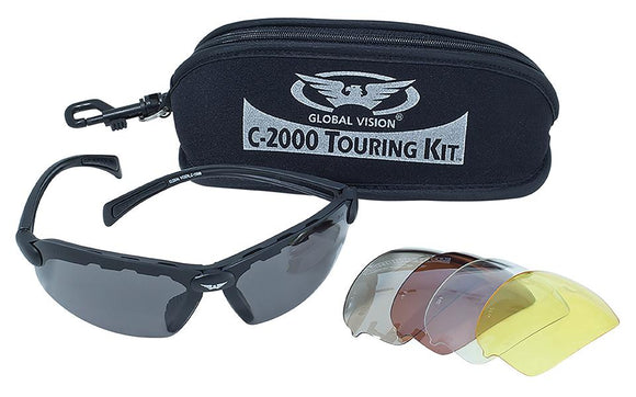 Global Vision C-2000 Touring Kit Safety Glasses with Interchangeable Lenses