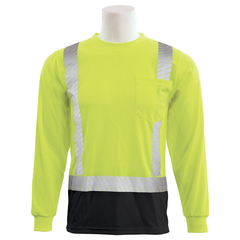 ERB 9007SBSEG Hi Vis Long Sleeve Shirt