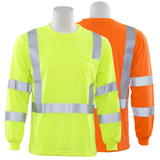 ERB 9802S Class 3 Long Sleeve Hi Vis T-Shirt