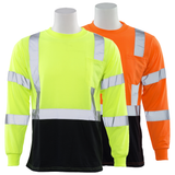 ERB 9804S Class 3 Hi Vis Long Sleeve T-Shirt