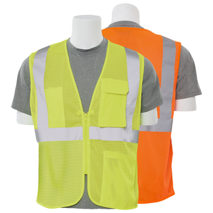 ERB S169 ANSI Class 2 Mesh Surveyor Vest with Zipper