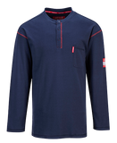 The Portwest FR92 Bizflame FR Henley, Navy